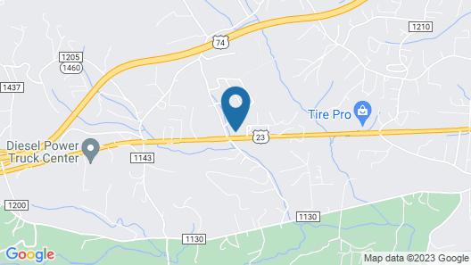 Mountain View Motel Map