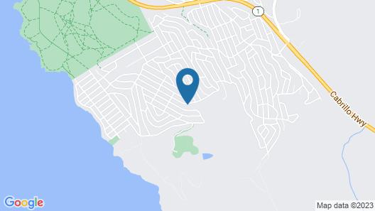Romantic, Ocean View, Designer Beach Cottage Map