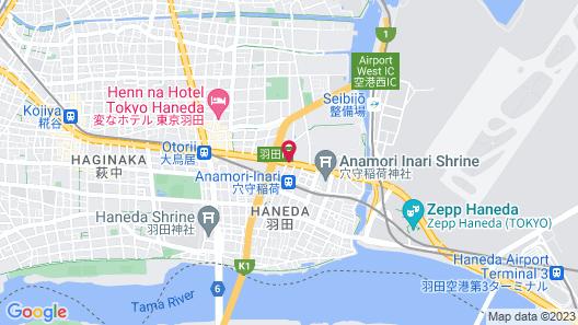 Hotel JAL City Haneda Tokyo West Wing Map