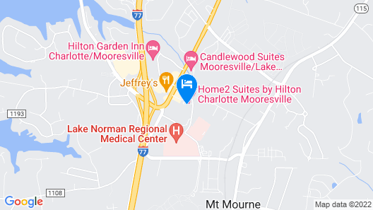 Home2 Suites by Hilton Charlotte Mooresville, NC Map