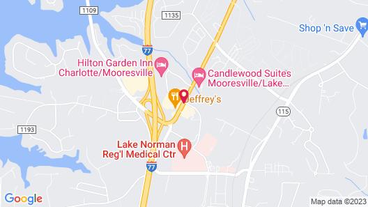 Hilton Garden Inn Charlotte/Mooresville Map