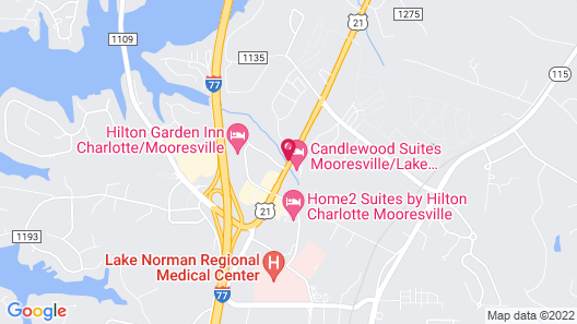 Candlewood Suites Mooresville, an IHG Hotel Map