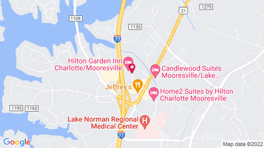 SpringHill Suites Charlotte Lake Norman/Mooresville Map