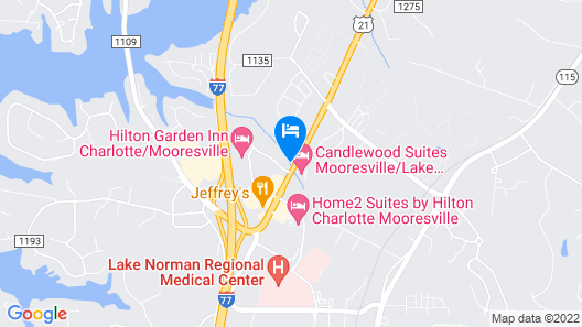 Candlewood Suites Mooresville Map