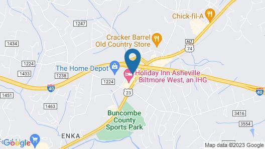 The Asheville Inn Map