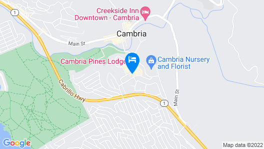 Cambria Pines Lodge Map