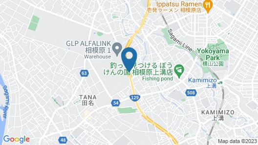 Hotel Route-Inn Sagamihara Map