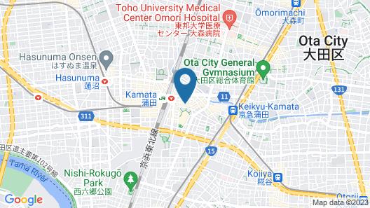 Sotetsu Fresa Inn Tokyo-Kamata Map