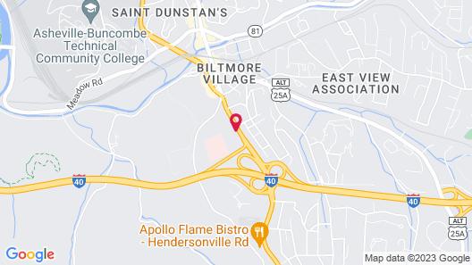 Hampton Inn & Suites Asheville Biltmore Village Map