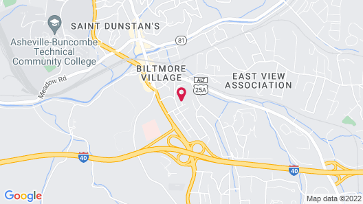 Biltmore Village Inn Bed and Breakfast Map