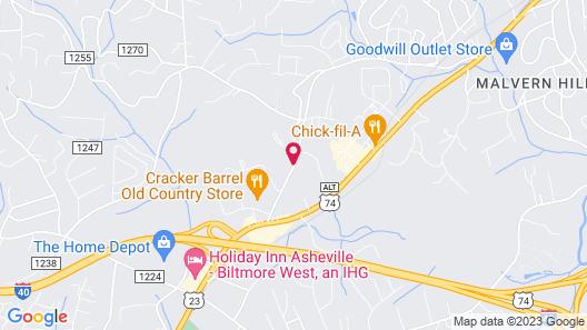 Sleep Inn Asheville - Biltmore West Map