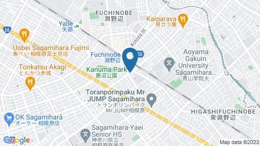 Toyoko Inn Yokohama-sen Fuchinobe-eki Minami-guchi Map