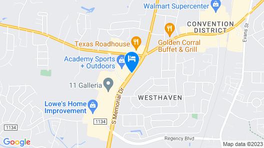 Baymont by Wyndham Greenville Map