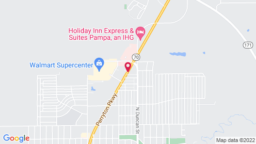 Holiday Inn Express & Suites Pampa Map