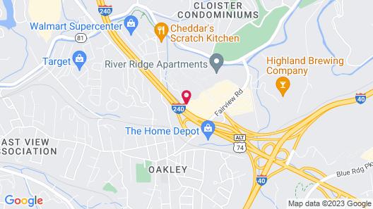 Ramada by Wyndham Asheville Near Downtown Map
