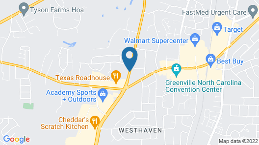 Wingate by Wyndham Greenville Map