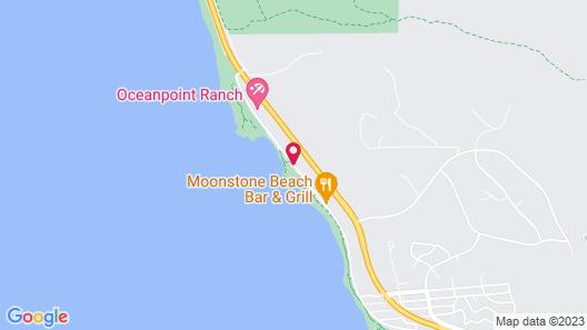 Fireside Inn on Moonstone Beach Map