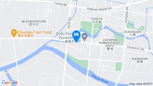 Shangri-La Hotel, Qufu Map