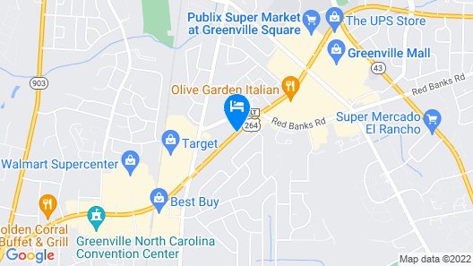 Red Roof Inn Greenville, NC Map