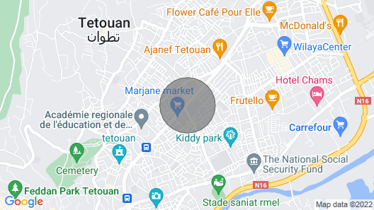 Beautiful apartment in Tetouan in a lively boulevard. Map