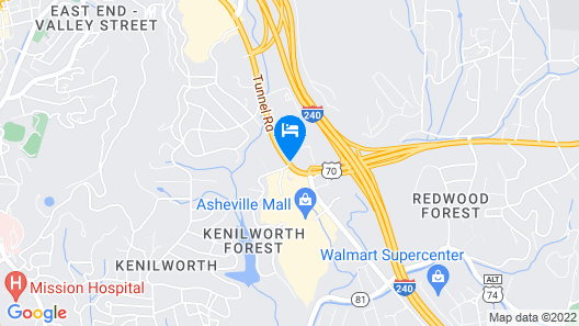 Country Inn & Suites by Radisson, Asheville Downtown Tunnel Road, NC Map