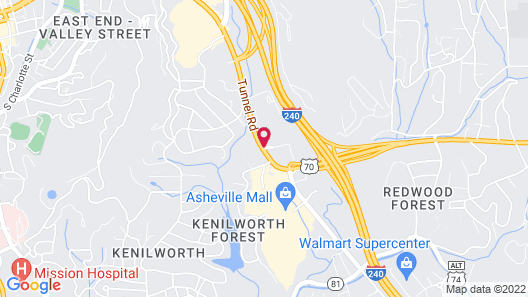 SpringHill Suites by Marriott Asheville Map