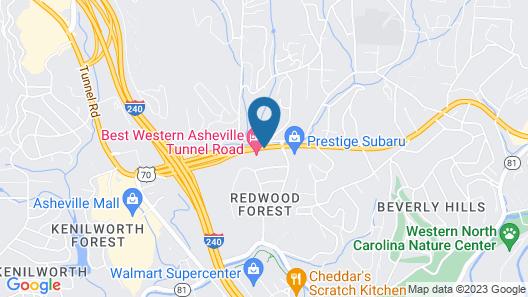 GLō Best Western Asheville Tunnel Road Map