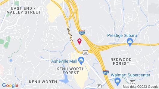 Hampton Inn Asheville-Tunnel Rd. Map