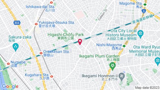M-1 Tokyo Kugahara Map