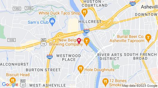 River Row Flats Map