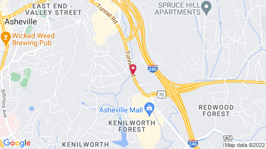 Fairfield Inn & Suites by Marriott Asheville Tunnel Road Map