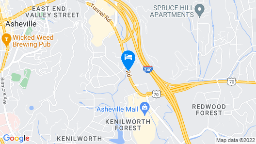 Quality Inn Asheville Downtown Tunnel Road Map