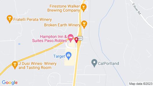Hampton Inn & Suites Paso Robles Map