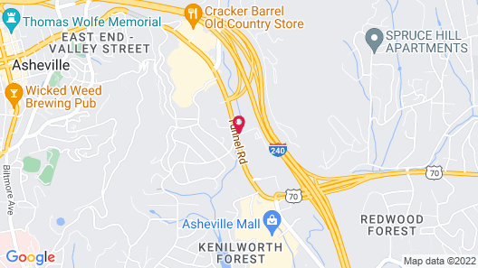 Extended Stay America - Asheville - Tunnel Road Map