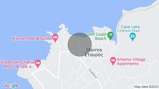 Stavros Seaside House. Stavros Paradise Map