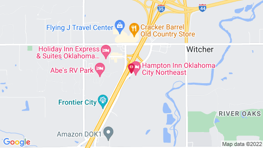 Hampton Inn Oklahoma City Northeast Map