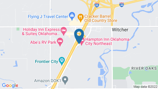 Hampton Inn Oklahoma City Northeast Map