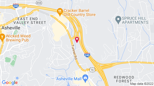 Extended Stay America Suites Asheville Tunnel Rd Map