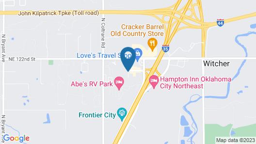 Holiday Inn Express & Suites Oklahoma City North Map
