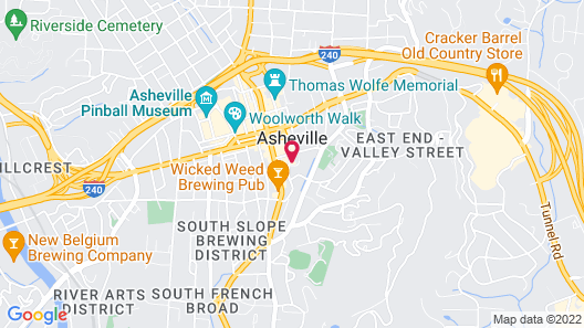 Foundry Hotel Asheville, Curio Collection by Hilton Map