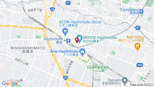 Toyoko Inn Keio-sen Hashimoto-eki Kita-guchi Map