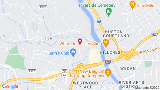 Crowne Plaza Resort Asheville Map