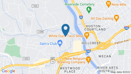 Crowne Plaza Resort Asheville Map