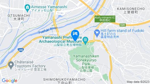 Kamenoi Hotel Yamanashi Kofu Minami Map