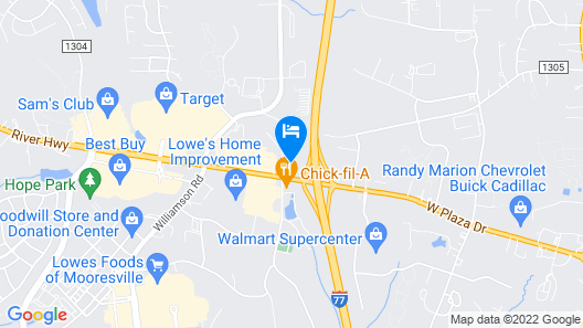 Wingate by Wyndham Mooresville - Charlotte Metro Area Map
