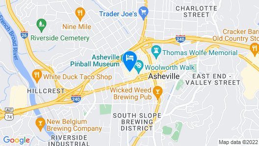 Cambria Hotel Downtown Asheville Map