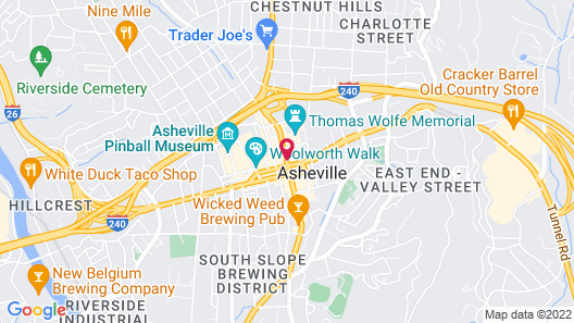 AC Hotel Asheville Downtown Map