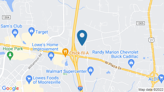 Affordable Suites Mooresville LakeNorman Map