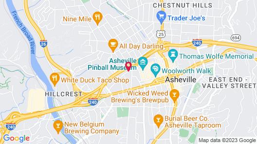 DoubleTree by Hilton Asheville Downtown Map