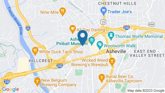 Hyatt Place Asheville/Downtown Map